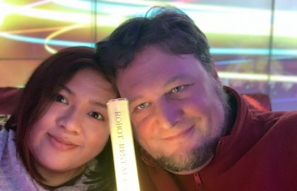 Anne & Sig at the Robot Restaurant