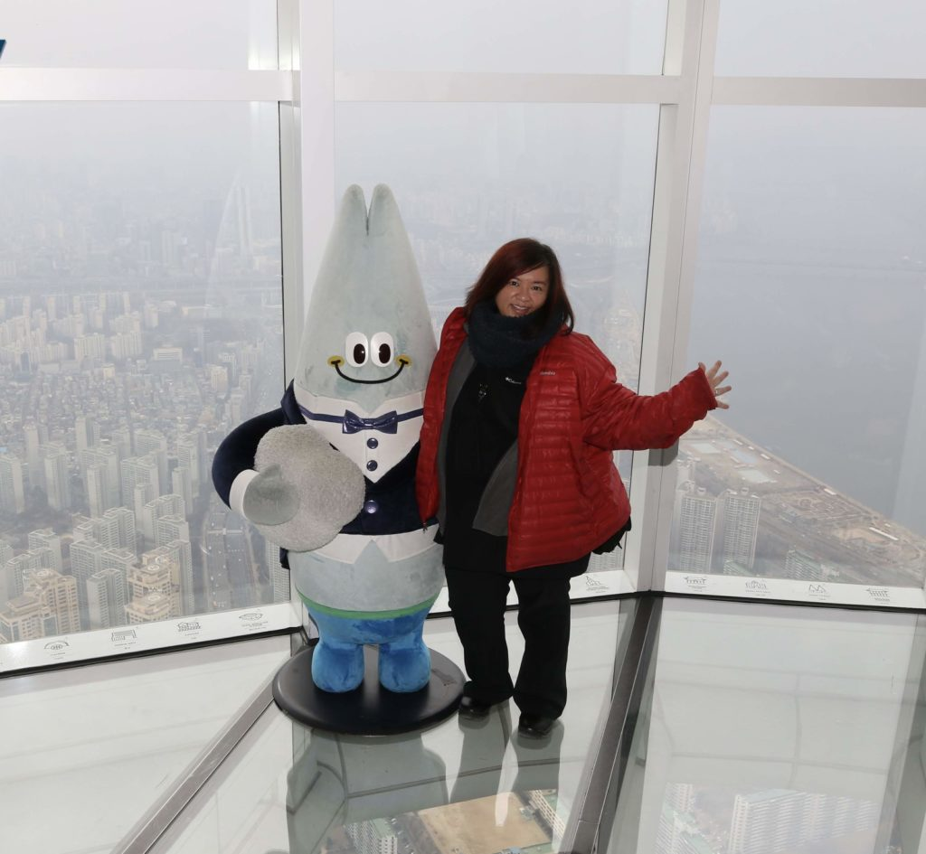 Me at Lotte World Tower in Seoul, South Korea, 2019