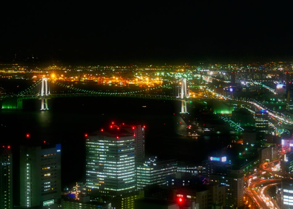 View from Caretta Shiodome at Night
