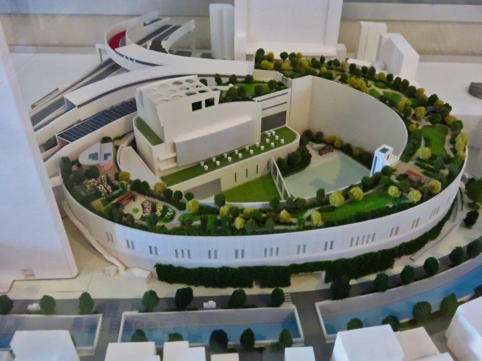 Model of Meguro Sky Garden