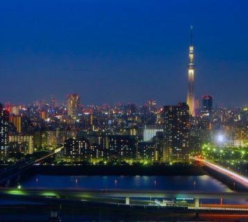 Night View of Tokyo from  Tower Hall Funabori
