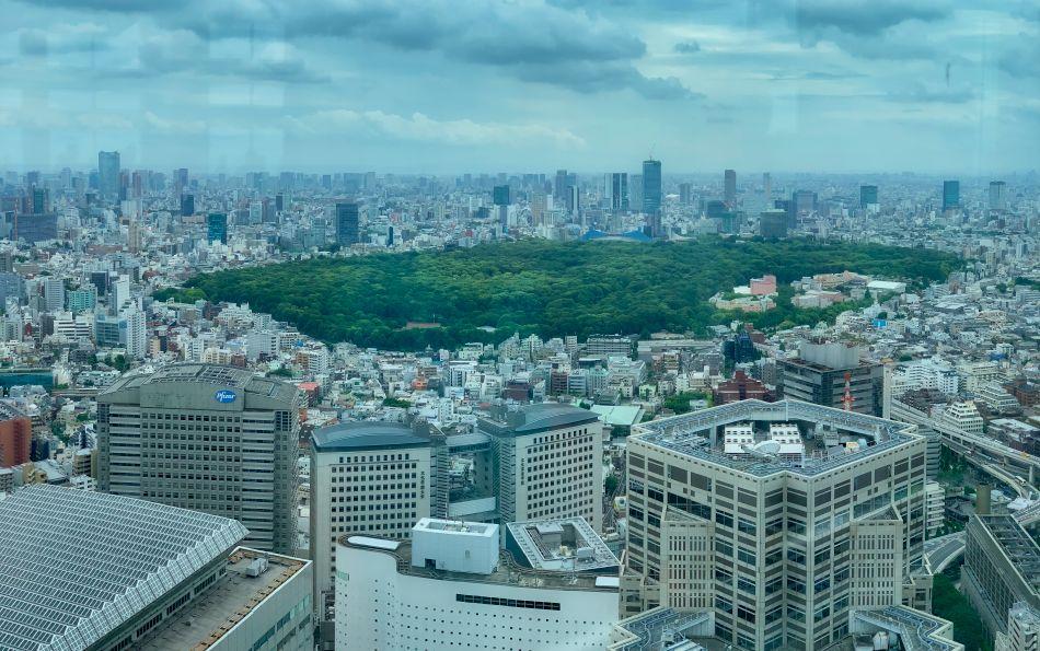View of Yoyogi Park from Tokyo Metropolitan Government Building