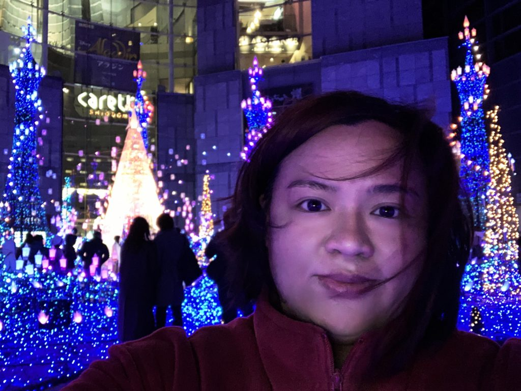 Anne at Carretta Shiodome Illuminations