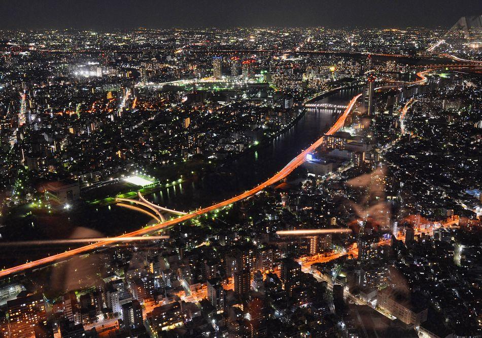 Tokyo Sky Tree Sumida River Night