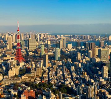 View of Tokyo Tower from Tokyo Sky View